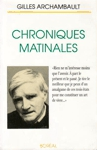 <strong>Chroniques matinales</strong>