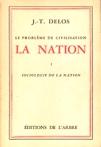 Sociologie de la nation - La nation - Tome I