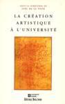 La cr�ation artistique � l'universit�